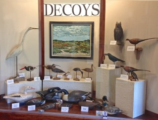 Hand carved decoys from the collection of Katharine Gracey